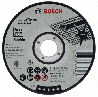 BOSCH Best for Inox 2608603490 - фотография 1