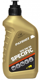 PATRIOT SPECIFIC HIGH-TECH 5W30 SJ/CF - фотография 1