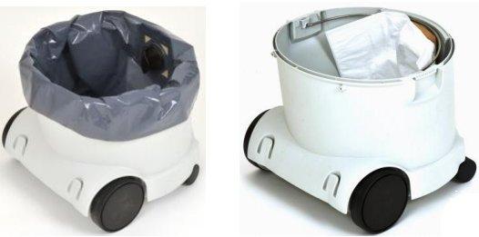Два мешка для сбора пыли и мусора