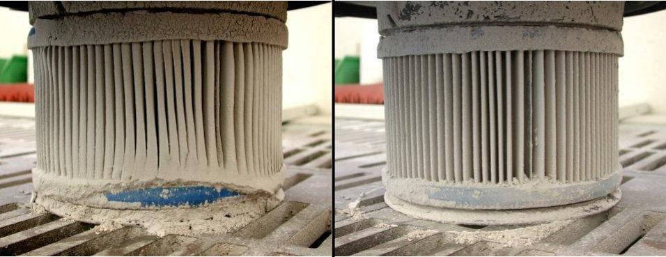До и после очистки фильтра